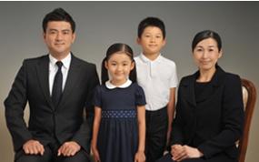 お受験のご家族写真